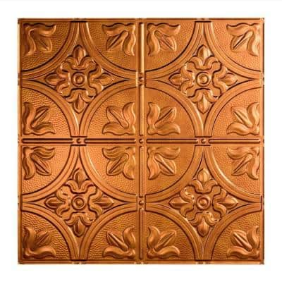 Traditional #2 2 ft. x 2 ft. Antique Bronze Lay-In Vinyl Ceiling Tile ( 20 sq.ft. )