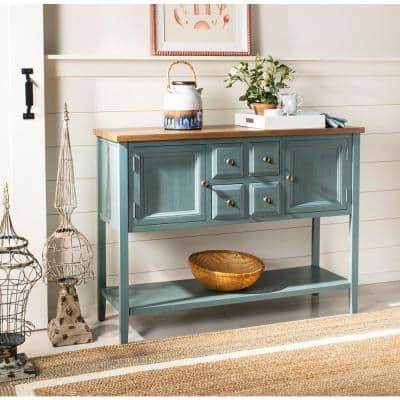 Charlotte Blue and Oak Buffet with Storage