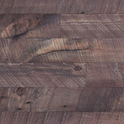 3/8 in. x 4-1/4 in. x 4-1/4 in. Board Barntique Concord Barnwood Wall Panels in Red Barn Finish