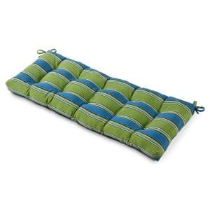 51 in. x 18 in. Cayman Stripe Rectangle Outdoor Bench Cushion
