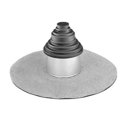 M-Weld 6 in. White Adjustable M-Vent Roofing Vent SBS Flashing for Low Slope Roofs
