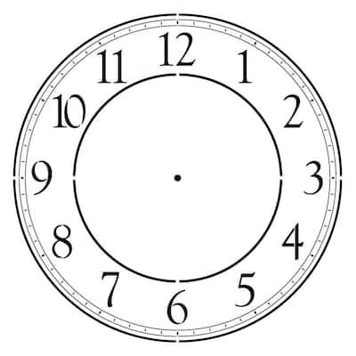 Contemporary 18 in. Clockface Wall Stencil