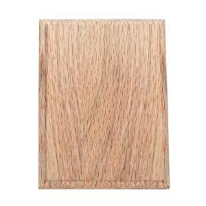 4-1/2 in. x 6 in. Unfinished Red Oak Craftsman Rosette
