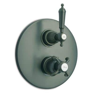 Ornellaia 2-Handle Thermostatic Valve Trim Kit in Oil Rubbed Bronze (Valve Not Included)