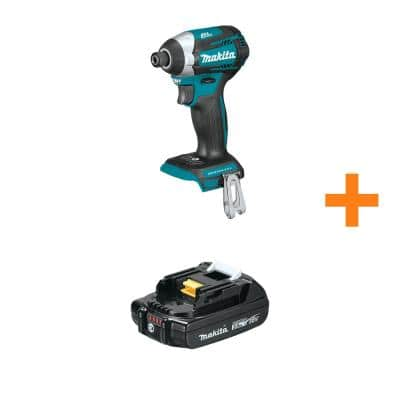 18V LXT Brushless Cordless Quick-Shift Mode 3-Speed Impact Driver (Tool-Only) with Bonus 18V LXT Compact 2.0Ah Battery