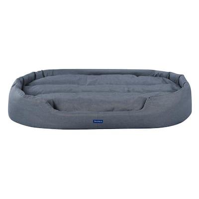 Missy Extra-Large Navy Blue Round Dog Bed