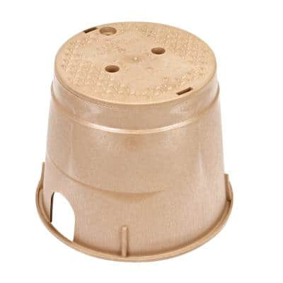 10 in. Round Standard Series Valve Box and Cover, Sand Box, Sand ICV Cover