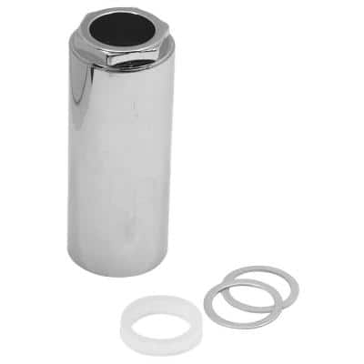 3 in. 1-Handle Tub and Shower Faucet Stem Retainer Nut for Mixet Faucets in Chrome