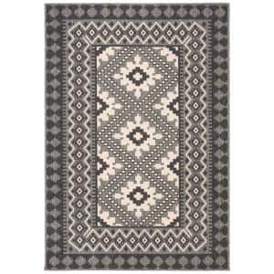 Veranda Ivory/Charcoal 5 ft. x 8 ft. Indoor/Outdoor Area Rug