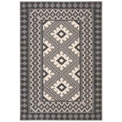 Veranda Ivory/Charcoal 7 ft. x 10 ft. Indoor/Outdoor Area Rug