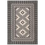 Veranda Ivory/Charcoal 8 ft. x 11 ft. Indoor/Outdoor Area Rug