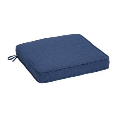 Oceantex Deep Marine Square Outdoor Seat Cushion (2-Pack)