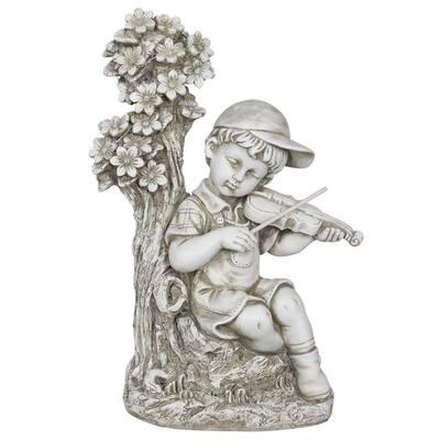 Solar Boy Playing Violin Statue