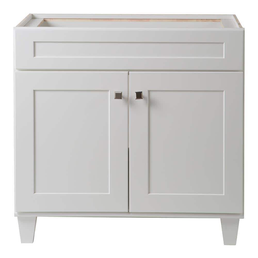 Home Decorators Collection Creeley 36 In W X 22 In D Bathroom Vanity Cabinet In Classic White 19evsdb36 The Home Depot