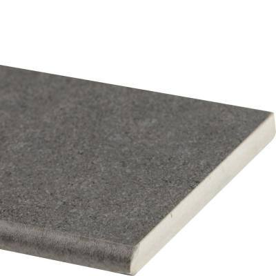 Beton Graphite Bullnose 4 in. x 12 in. Matte Porcelain Wall Tile (1 lin. ft. )