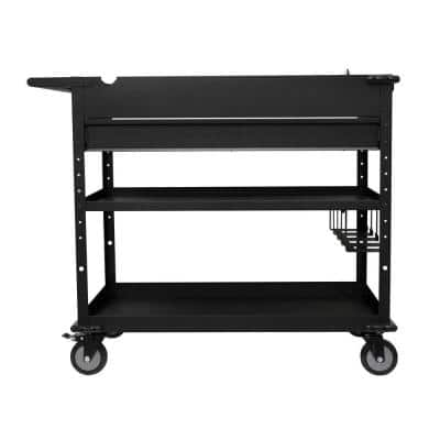 40 in. Steel Tool Cart with Power Tool Holder and Power Strip