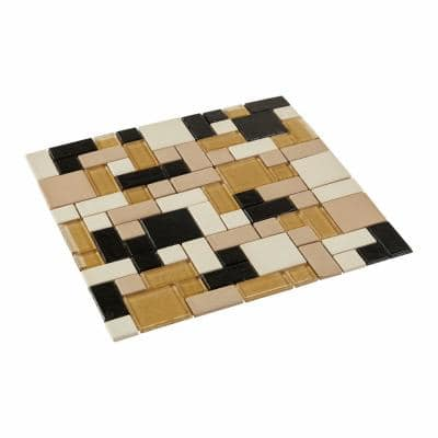 Coastal Keystones Sunset Cove Random Joint 12 in. x 12 in. x 6 mm Glass Mosaic Floor and Wall Tile (1 sq. ft./Each)