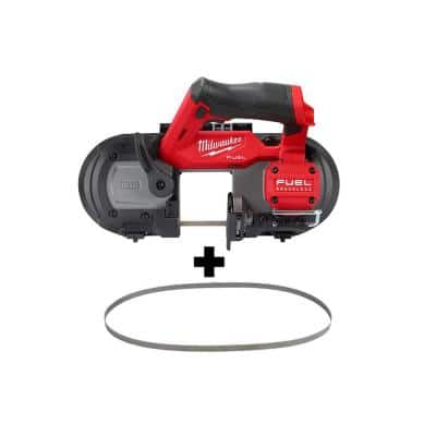 M12 FUEL 12-Volt Lithium-Ion Cordless Sub-Compact Band Saw with (4) 12/14 TPI Extreme Metal Cutting Band Saw Blades