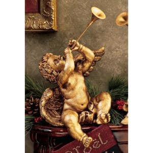 13.5 in. H Trumpeting Angels of St. Peters Square Boy Angel Statue