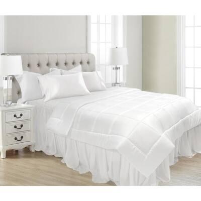 White All-Season Ultra-Soft Microfiber King Comforter, Duvet Filler