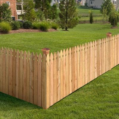 3-1/2 ft. x 8 ft. Western Red Cedar Privacy French Gothic Fence Panel Kit