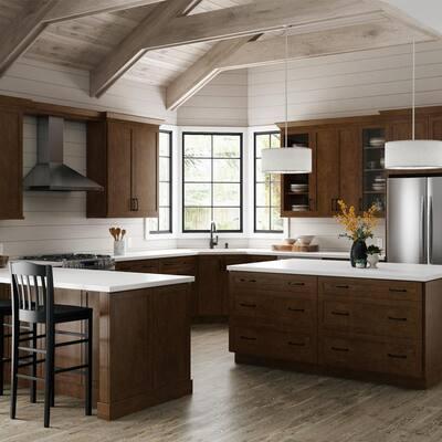 Designer Series Soleste Assembled 24x34.5x23.75 in. Drawer Base Kitchen Cabinet in Spice