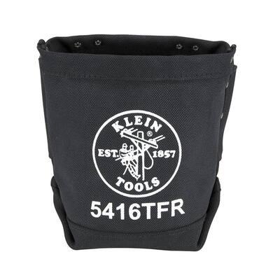 9 in. Flame-Retardant Canvas Bolt Bag Tool Bag in Black