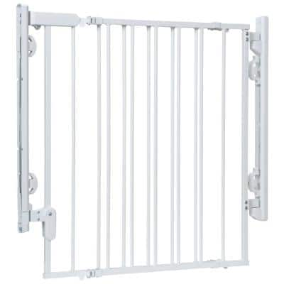 Ready to Install 28 in. Top of Stairs Child Safety Gate in White