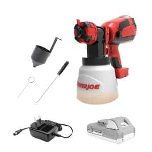24-Volt Cordless HVLP Handheld Paint Sprayer Kit with 4.0 Ah Battery + Charger