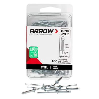 RLS 1/8 in. Long Steel Rivets (100-Pack)
