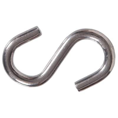 0.307 in. x 2-1/2 in. Stainless Steel S-Hook (10-Pack)