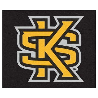 NCAA Kennesaw State University Black 5 ft. x 6 ft. Area Rug