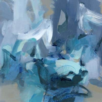 """72 in. x 72 in. """"Abstract Blues II"""" by Christina Long Canvas Wall Art"""