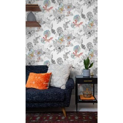 Paisley Floral Abstract Vinyl Peel & Stick Wallpaper Roll (Covers 30.75 Sq. Ft.)