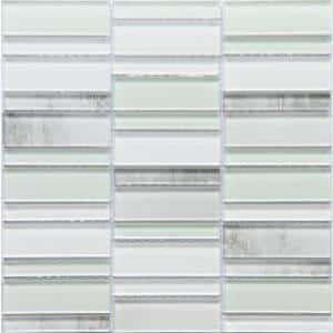 La Vie Sea 11.81 in. x 11.93 in. x 6mm Glass Mesh-Mounted Mosaic Tile (0.98 sq. ft.)