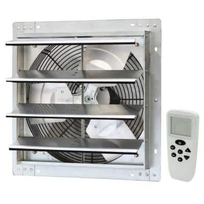 1200 CFM Silver Electric Powered Gable Mount Shutter Fan/Vent