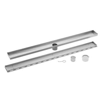 60 in. Stainless Steel Tile Insert Linear Shower Drain