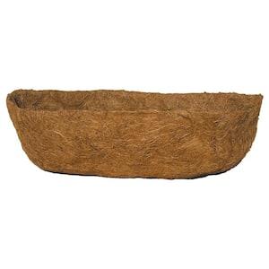 English Garden 24 in. Premium Window Basket Replacement Coconut Liner with Soil Moist Mat