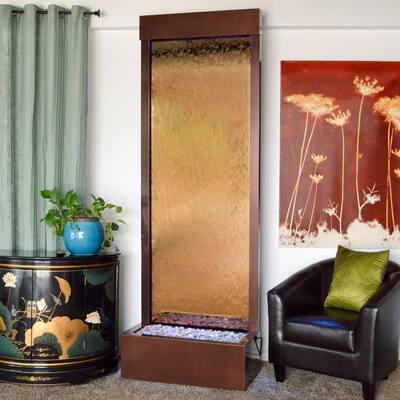8 ft. Garden-Fall Floor Fountain in Dark Copper and Bronze Mirror