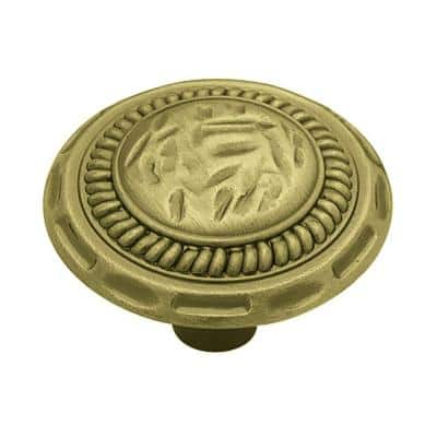 Sundial 1-3/8 in. (35mm) Antique Brass Round Cabinet Knob