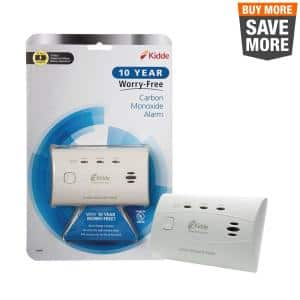 10 Year Worry-Free Sealed-In Lithium Battery Carbon Monoxide Detector
