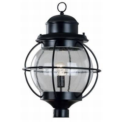 Hatteras 1-Light 24 in. Black Post Lantern