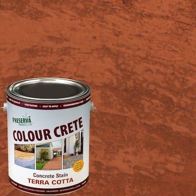 1 Gal. Terra-Cotta Semi-Transparent Water-Based Exterior Concrete Stain