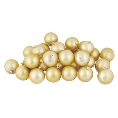10 x 60mm Christmas Tree Baubles Shiny Champagne Gold BA164 Matte /& Glitter
