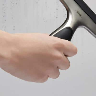 Good Grips 10 in. Stainless Steel Multi-Purpose Glass Squeegee with Soft Handle
