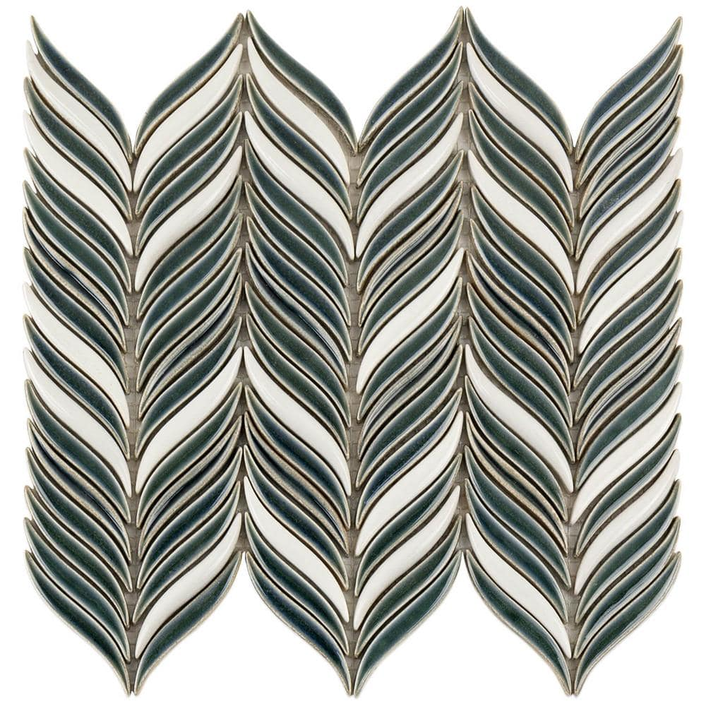 Ivy Hill Tile Delphi Alula Deep Emerald 10 In X 12 In Glazed Ceramic Mosaic Tile 0 85 Sq Ft Sheet Ext3rd105794 The Home Depot