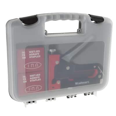 Heavy Duty 3-Way Staple Gun Kit with Case in Black