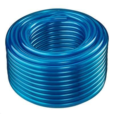 1 in. I.D. x 1-1/4 in. O.D. x 100 ft. Blue Translucent Flexible Non-Toxic BPA Free Vinyl Tubing