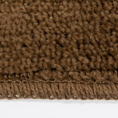 Softy Collection Brown 9 in. x 26 in. Rubber Back Stair Tread Cover (Set of 5)