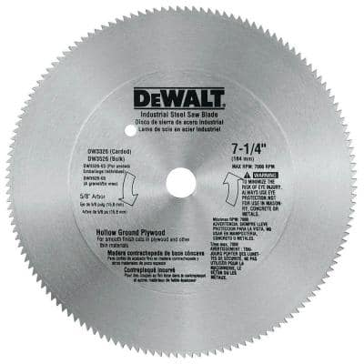 7-1/4 in. 140-Teeth Steel Plywood Saw Blade